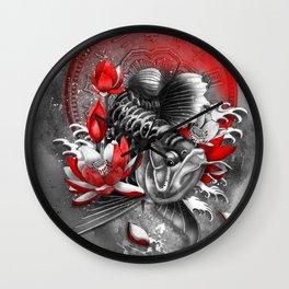 Arowana Dragon Fish Wall Clock