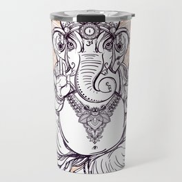 Lord Ganesha on Mandala Travel Mug