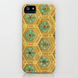 Gold Honeycomb iPhone Case