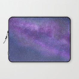 Deep Purple Milky Way Stars Laptop Sleeve