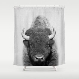 Buffalo - Black & White Shower Curtain