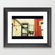 Fire Escape Chicago Framed Art Print