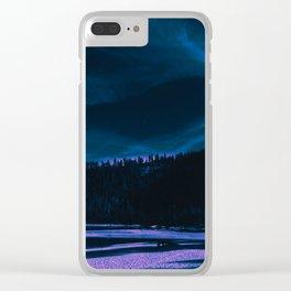 neon beach Clear iPhone Case