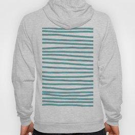 Ocean Green Hand-painted Stripes Hoody