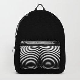8737-KMA BW Art Nude Zebra Striped Rear View Bum Butt Booty Backpack