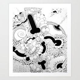Dickdala #4 Art Print
