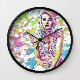 Margot Robbie - Celebrity Art (Colorful Illustration) Wall Clock