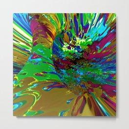 Technicolor Tunnel Metal Print