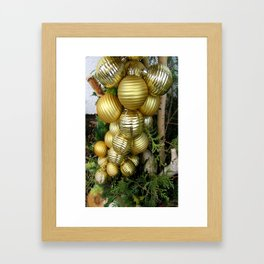 Christmas decorations Framed Art Print