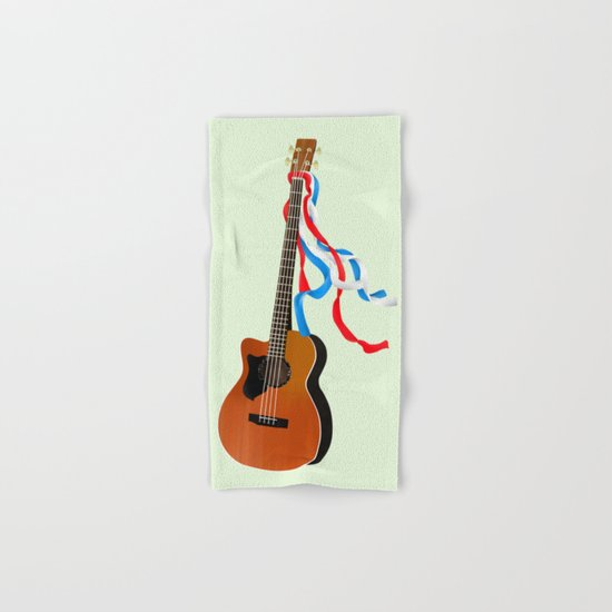 Acoustic Bass Hand & Bath Towel