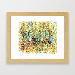 Abstract 22 Mosaic Framed Art Print
