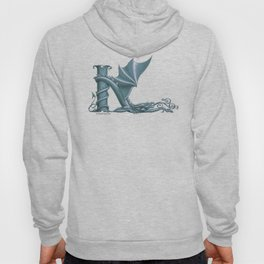 """Dragon Letter K, from """"Dracoserific"""", a font full of Dragons Hoody"""