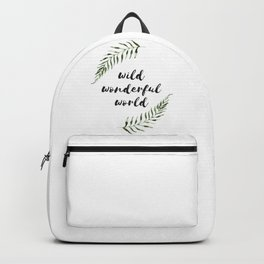 wild wonderful world Backpack