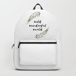 wild wonderful world Backpack
