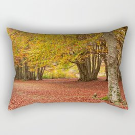 Colorful autumn in the woods of Canfaito park, Italy Rectangular Pillow