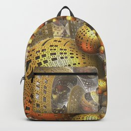 Gold Fractals Backpack