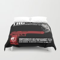 propaganda Duvet Covers featuring THC Propaganda by The Hemp Connoisseur  ™