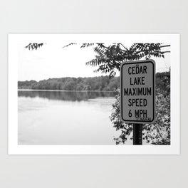 Cedar Lake Art Print