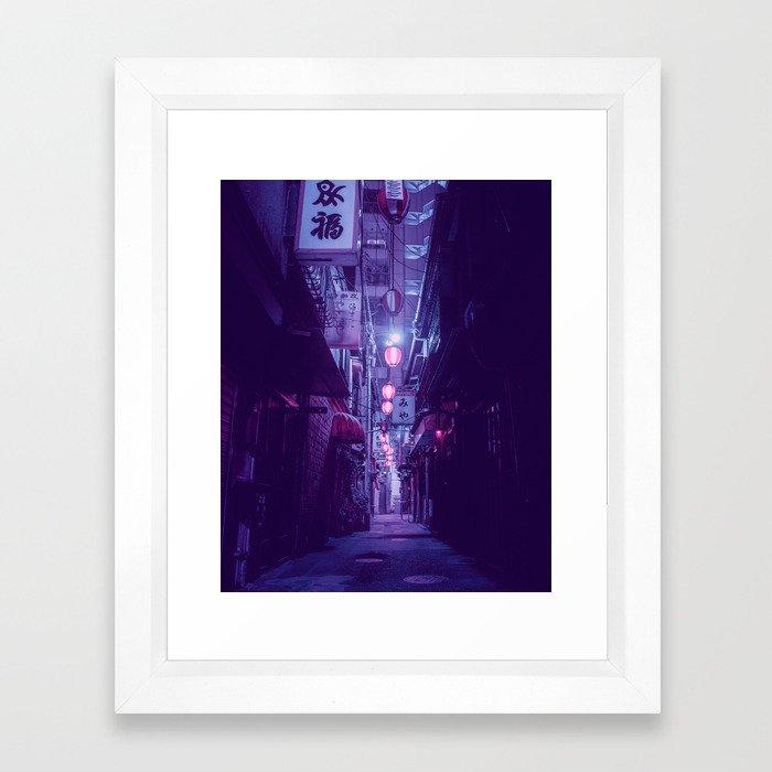 Tokyo Nights / One More Light / Liam Wong Framed Art Print