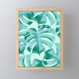 Tropical Monstera Leaves Dream #4 #tropical #decor #art #society6 Framed Mini Art Print