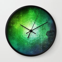 Abstract Deep Space Portal Blue-Green Wall Clock