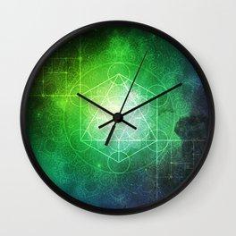 Abstract Deep Space Portal Blue-Green Wall Clock