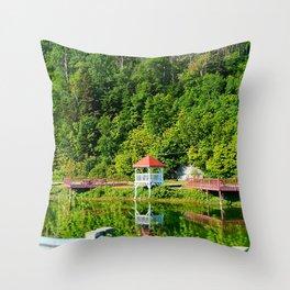 Seaside Reststop Throw Pillow