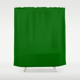 Dark Green Shower Curtain