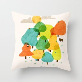 Smol Tings Throw Pillow