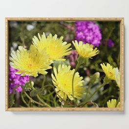 Desert Wildflowers by Reay of Light Photography Serving Tray