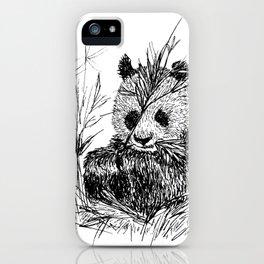 Panda eating Bamboo iPhone Case