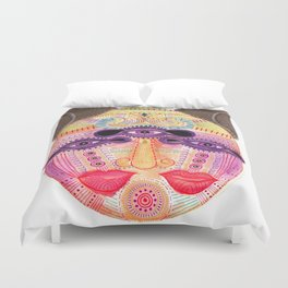 watch my lips mask Duvet Cover