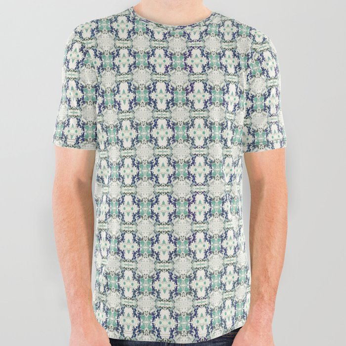 basket weave bg All Over Graphic Tee