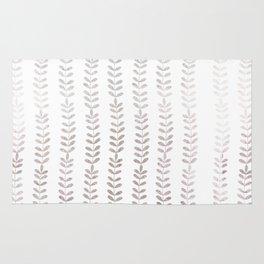 Silver leaf trellis Rug