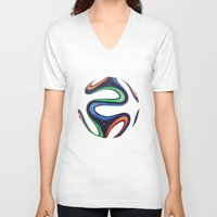 world cup V-neck T-shirts featuring World Cup 2014 by LCPCS