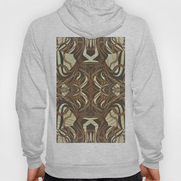 Neo-Tribal Woodwork Mandala Print Hoody