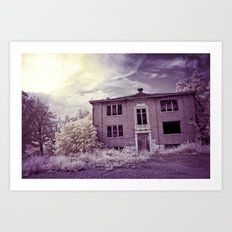 Old Edmonton High School | Infrared in Purple Art Print