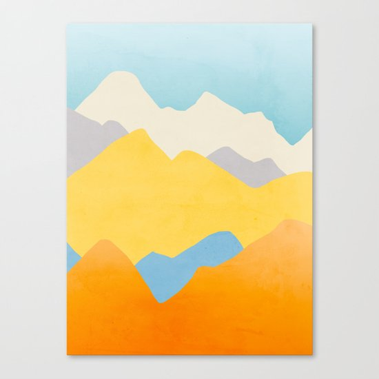 Happy Mountains Canvas Print