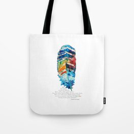 Colorful Feather Art -  Blessing - By Sharon Cummings Tote Bag