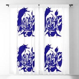 face4 blue Blackout Curtain