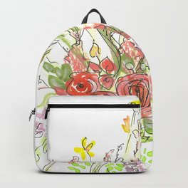 Delicate Floral Spray Backpack