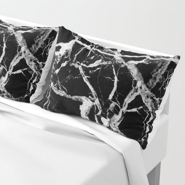 Black marble pattern Pillow Sham