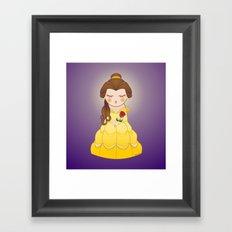Kokeshi Beauty Framed Art Print