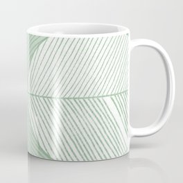 Minimal Tropical Leaves Pastel Green Coffee Mug
