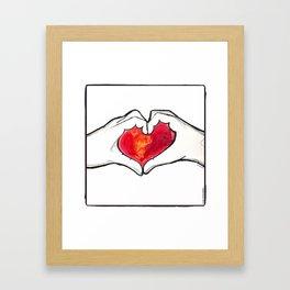 HeartFelt Framed Art Print
