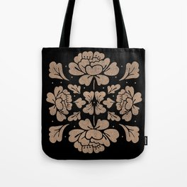 Barroco Square Glitter Rose Tote Bag