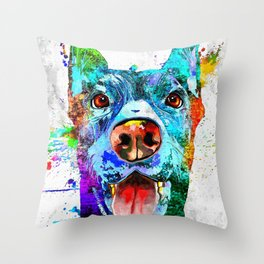 Doberman Pinscher Grunge Throw Pillow