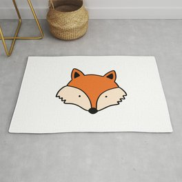 Simple red fox Rug