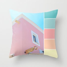 Bright And Happy On The Side Pastels Throw Pillow