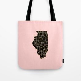 Illinois map Tote Bag
